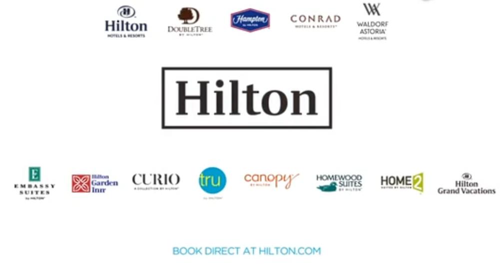 希尔顿酒店及度假村宣传广告