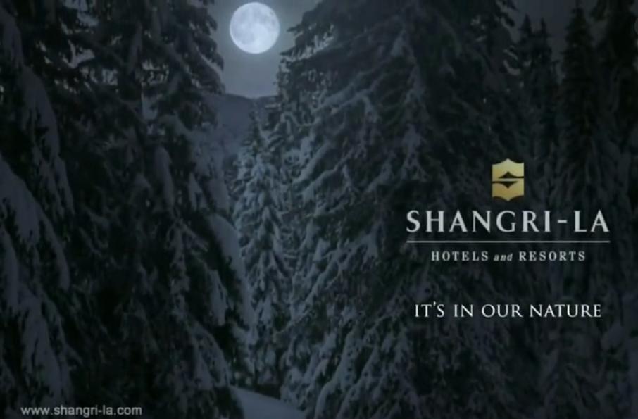 香格里拉酒店创意广告